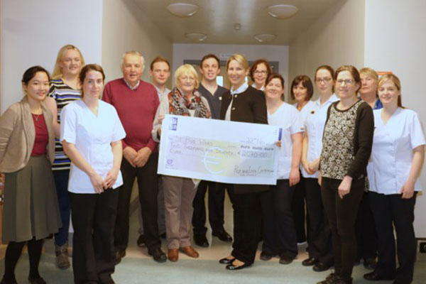 Cheque presentation to 'Patient Comfort Fund', St Pius Ward, UHG