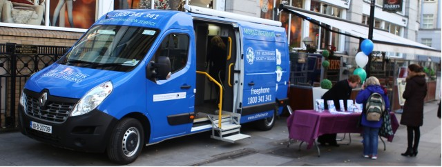 Alzheimer Society of Ireland Mobile Information Service visits University Hospital Galway