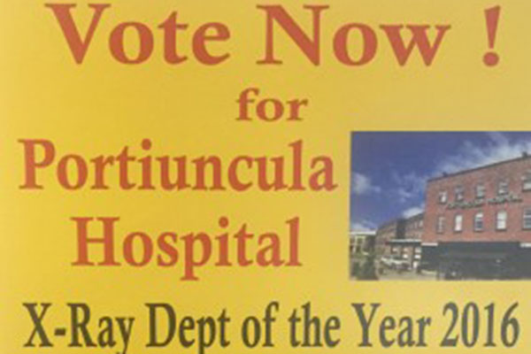 Radiology Department at Portiuncula University Hospital shortlisted for 2016 MEDRAY award  - Public can support the Radiology Department by voting online before 14 September