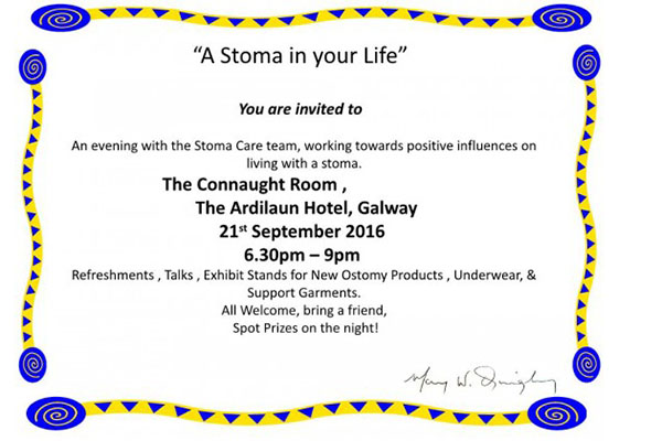 Galway University Hospitals Stoma Care information evening