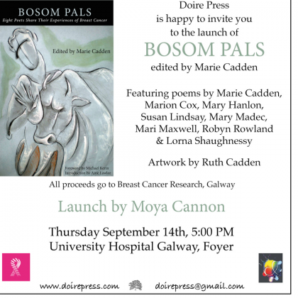 Collection of Poetry launches in UHG in aid of Breast Cancer Research
