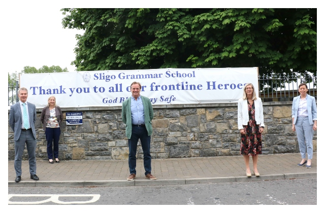 Sligo University Hospital thank Sligo Grammar School for their support