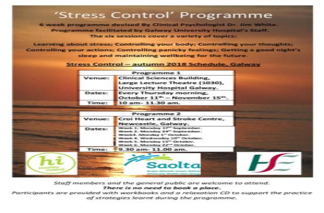 Stress Control Programme Autumn 2018