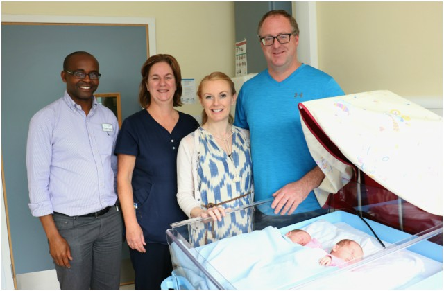 New Twin cots for the Neonatal Unit at University Hospital