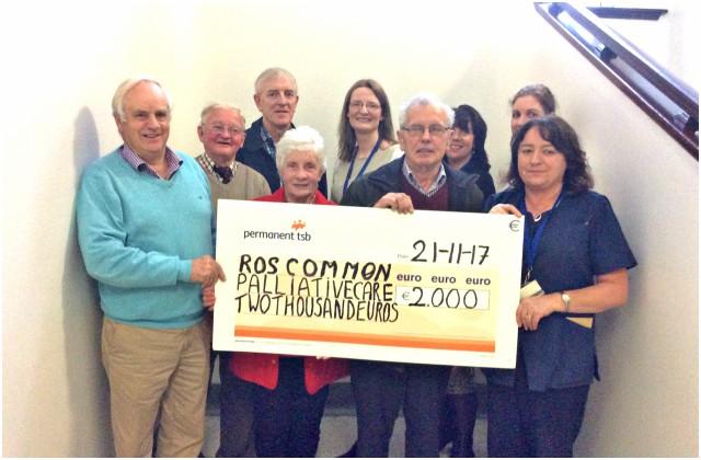 Cheque presentation to Palliative Care Services, RUH