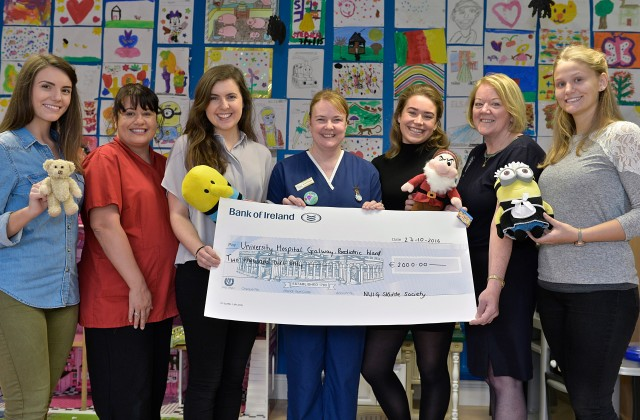 Sláinte Society Donation to Paediatric Unit, UHG