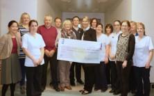 Cheque presentation to 'Patient Comfort Fund', St Pius Ward, UHG