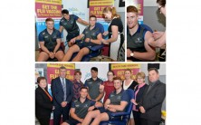 Connacht Rugby squad join staff to launch Flu Vaccine Campaign at University Hospital Galway